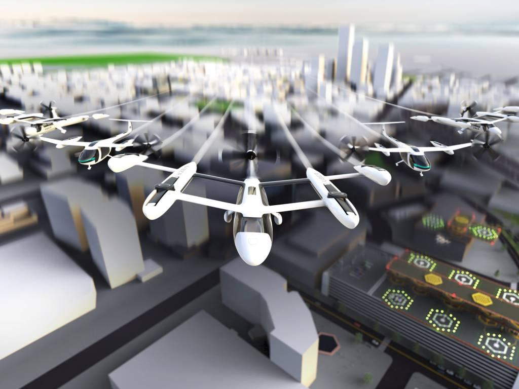 Uber Flying Taxi táxi voador carro