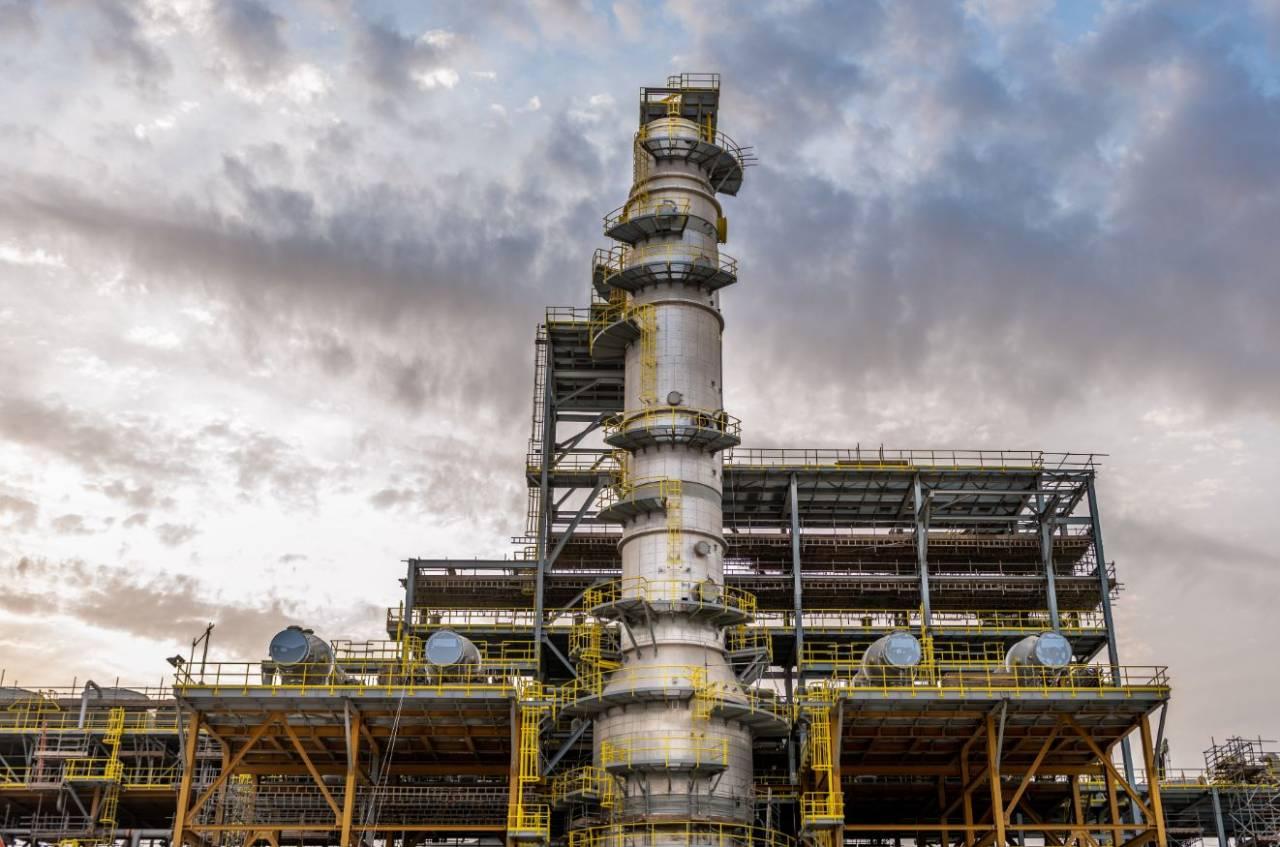 Construção da planta de Fadhili da Saudi Aramco (Divulgação/Saudi Aramco)