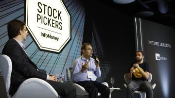 Luiz Parreiras, Luis Stuhlberger e Thiago Salomão, no Stock Pickers