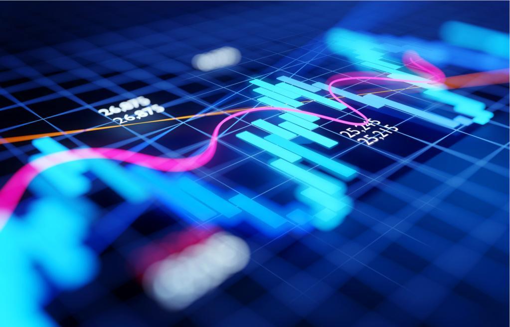 mercado bolsa índices alta ações gráfico