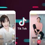 Logo no TikTok ao centro, com quatro celulares ao lado, com jovens fazendo vídeos