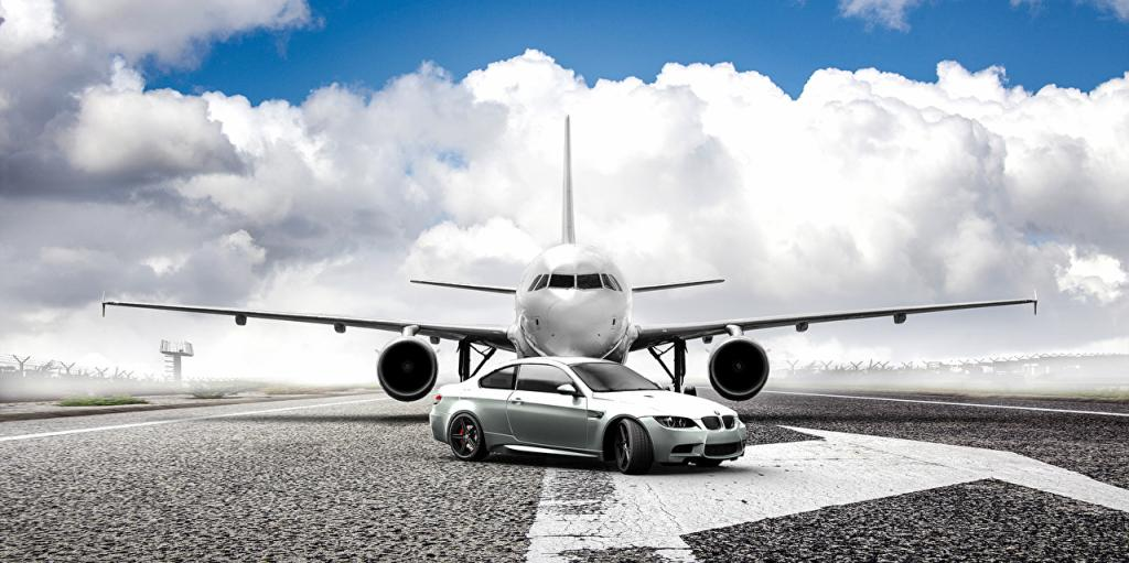 carro avião jato bmw