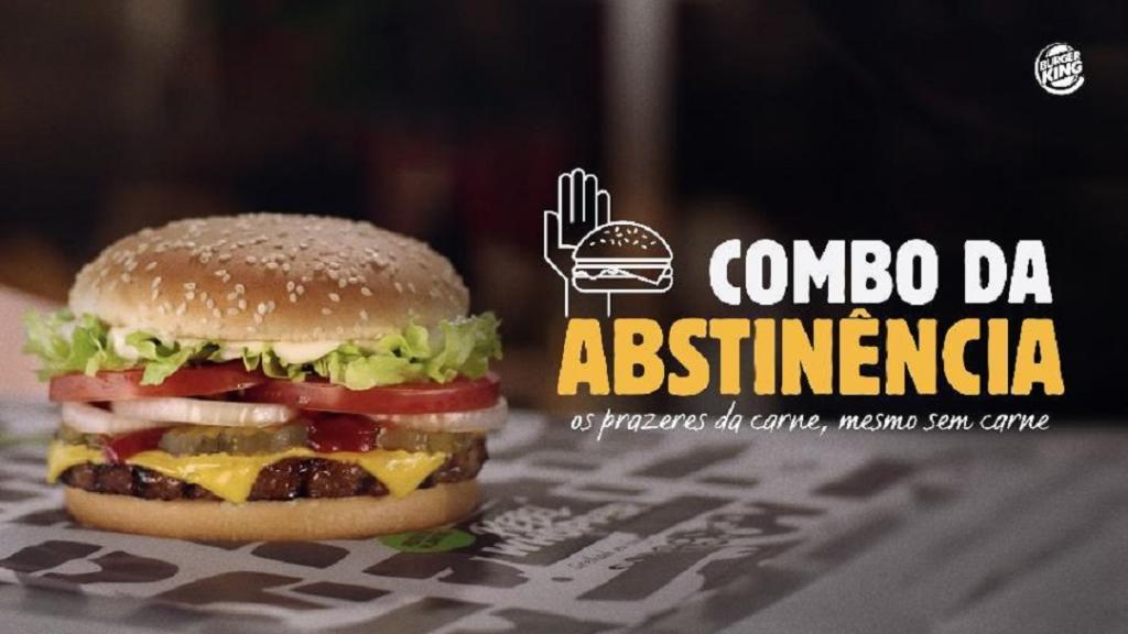 Hambúrguer do Burger King feito com carne vegetal