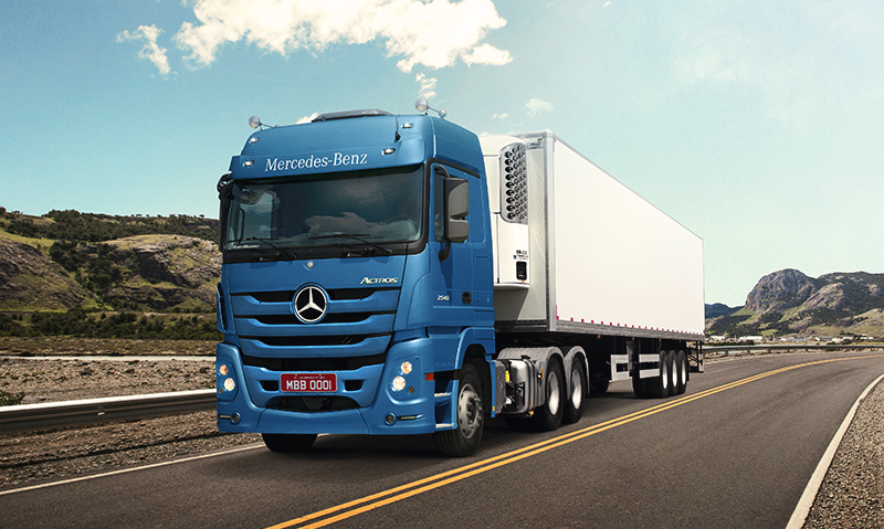 Caminhão da Mercedes-Benz