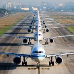 fila de aviões aeroporto aviação companhias aéreas voo covid