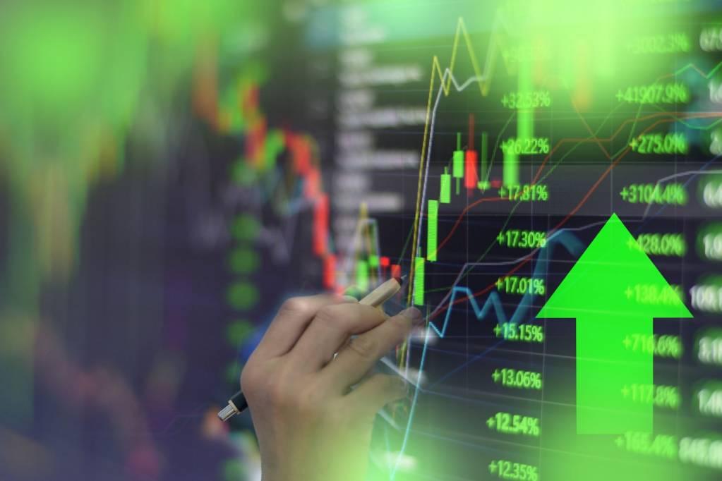 bolsa ações mercados alta up sobe índices