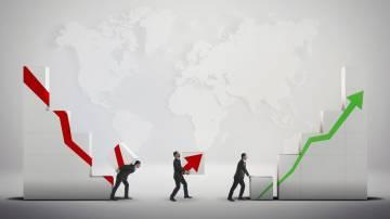 ações mercados alta baixa índices gráficos queda