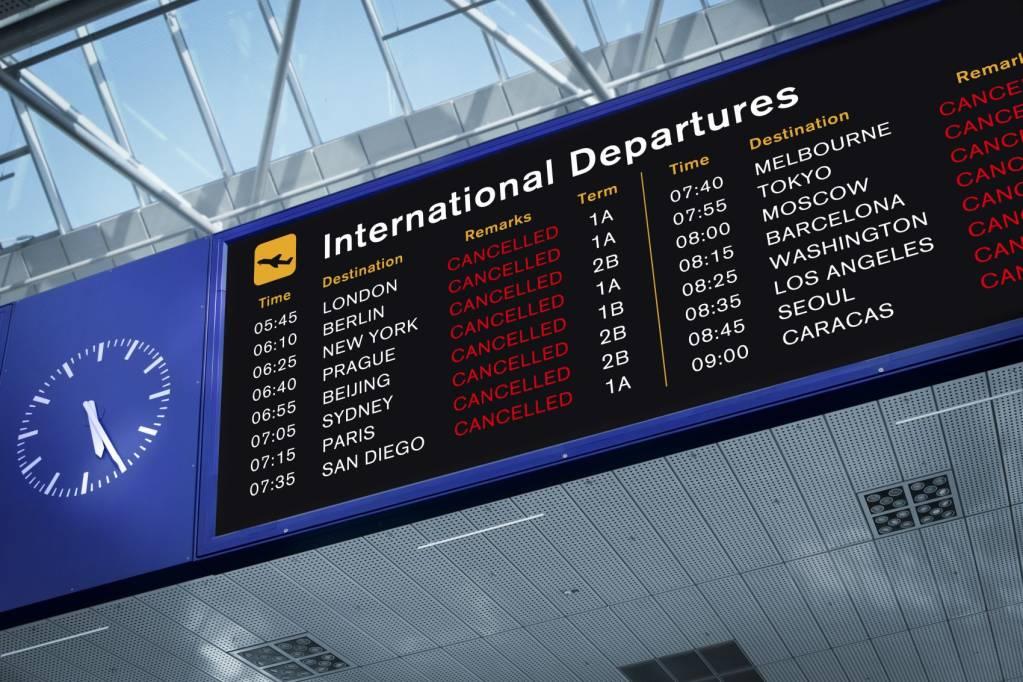 aeroporto aviação aviões voos cancelados covid coronavírus