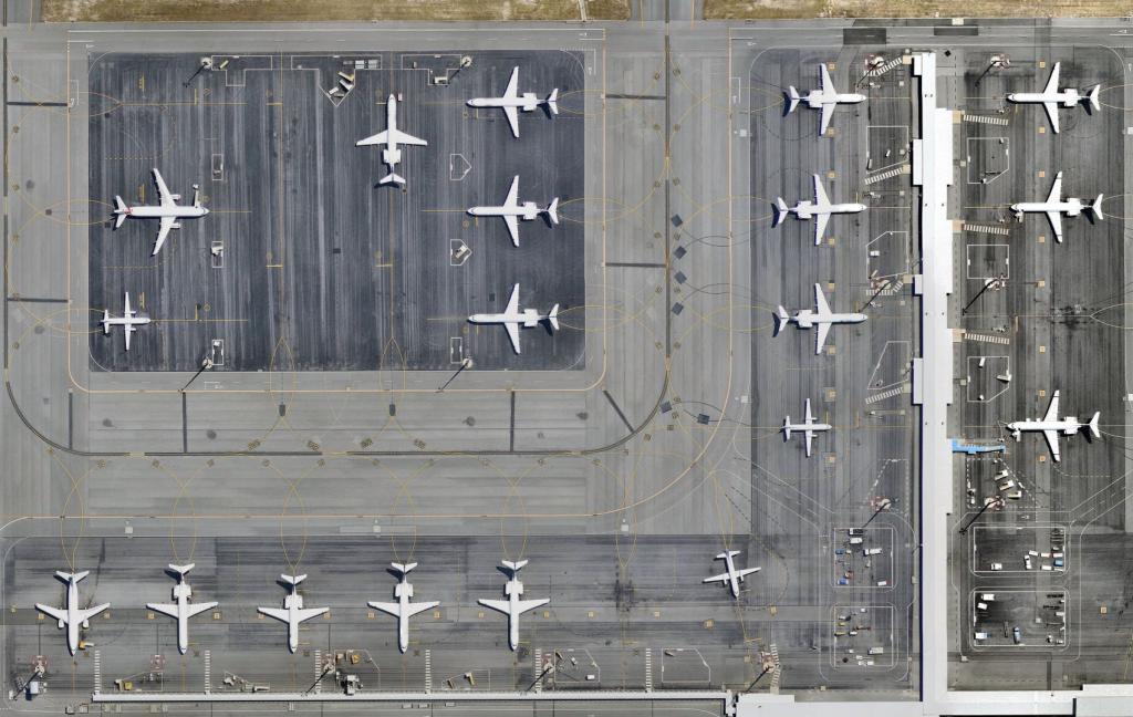 aeroporto aviões aviação terminal aéreas covid
