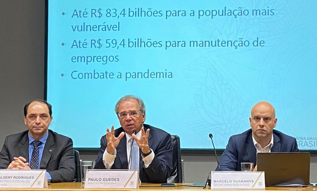 Waldery Rodrigues, Paulo Guedes e Marcelo Guaranys