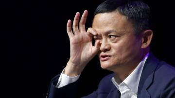 PARIS, FRANCE - MAY 16: Chairman of Alibaba Group Holding Ltd. Jack Ma delivers a speech to participants during the 4th edition of the Viva Technology show at Parc des Expositions Porte de Versailles on May 16, 2019 in Paris, France. Viva Technology, the new international event brings together 9000 startups with top investors, companies to grow businesses and all players in the digital transformation who shape the future of the internet. (Photo by Chesnot/Getty Images)