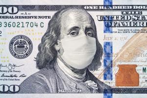 dólar coronavírus dinheiro nota dollar máscara