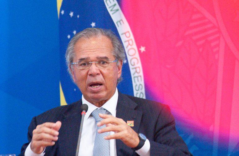 Paulo Guedes em entrevista à imprensa