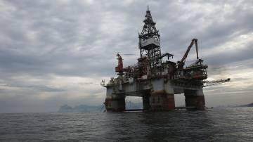 Plataforma da Petrobras na Baia da Guanabara, no Rio de Janeiro
