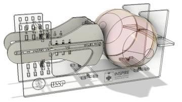 Protótipo de ventilador pulmonar desenvolvido por pesquisadores da USP