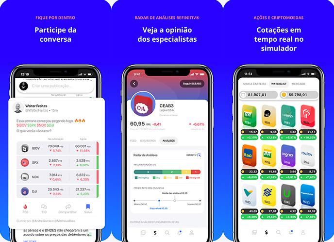 aplicativo de simulador de ações qual o melhor investimento no banco