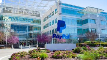 Fachada da sede do PayPal no Vale do Silício