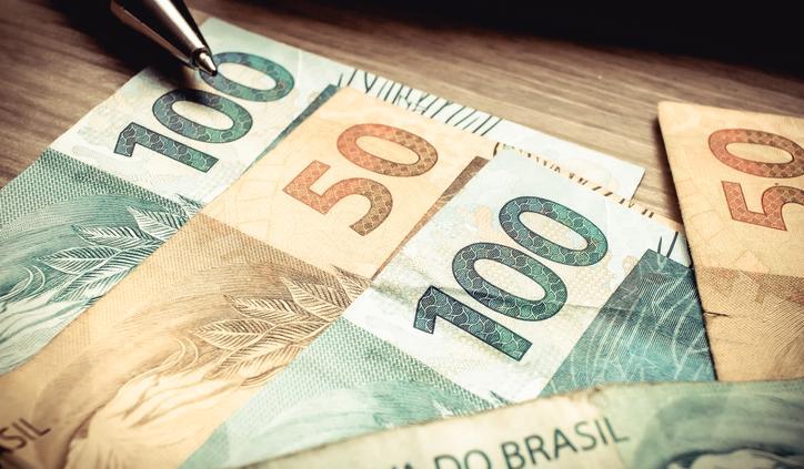 Notas reais dinheiro