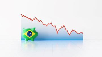 brasil gráfico economia porquinho baixa queda recessão