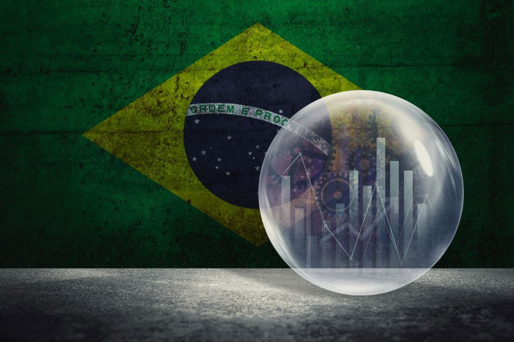 brasil economia gráfico bandeira