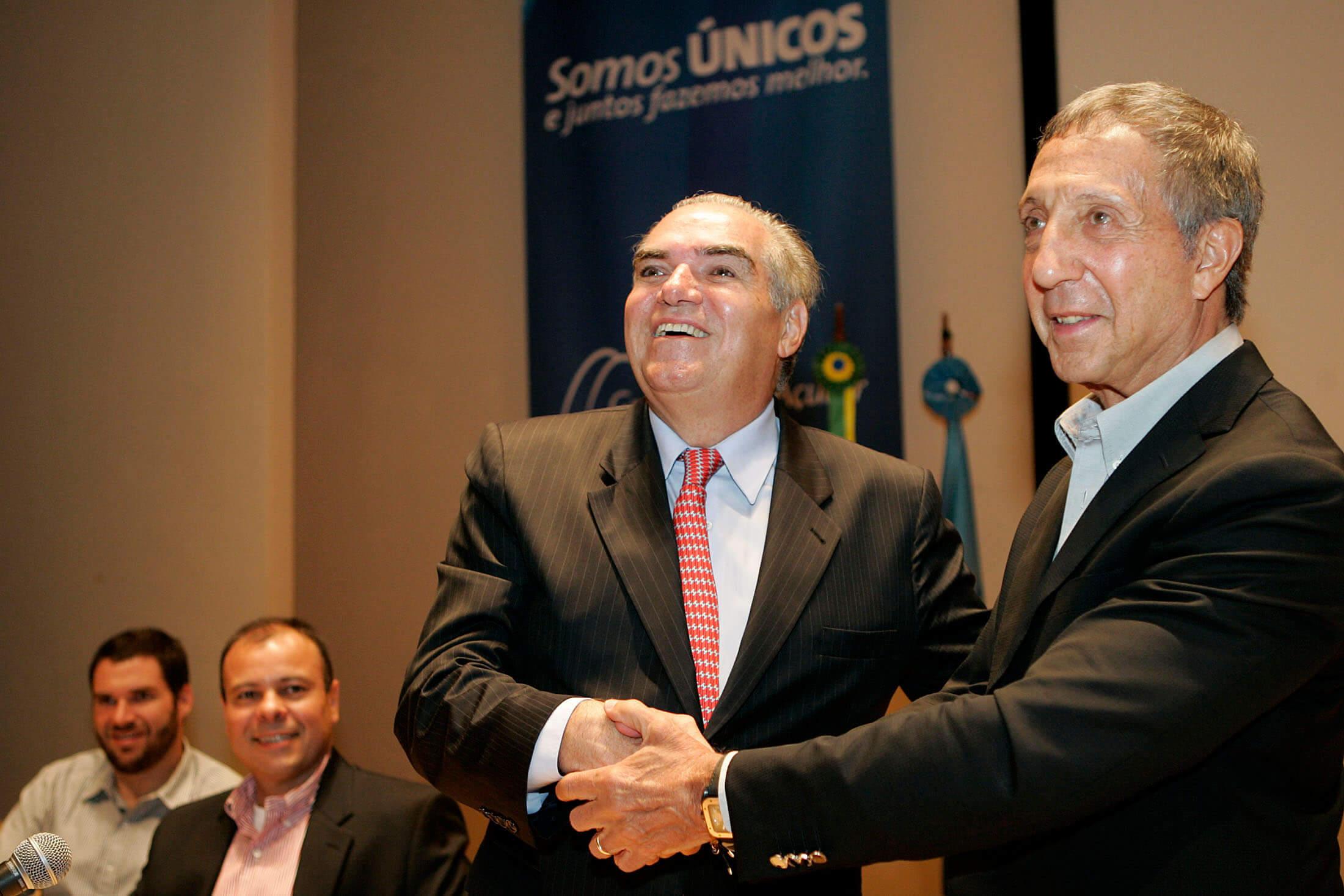 Michael Klein e Abílio Diniz