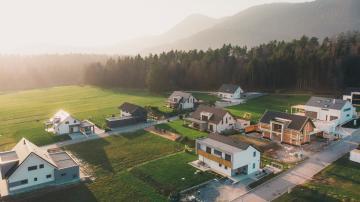 Casas no subúrbio