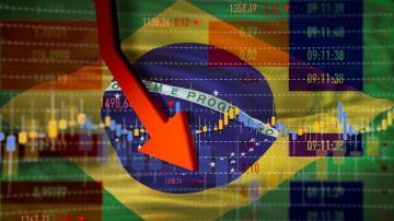 Brasil em queda/crise (Foto: Getty Images)