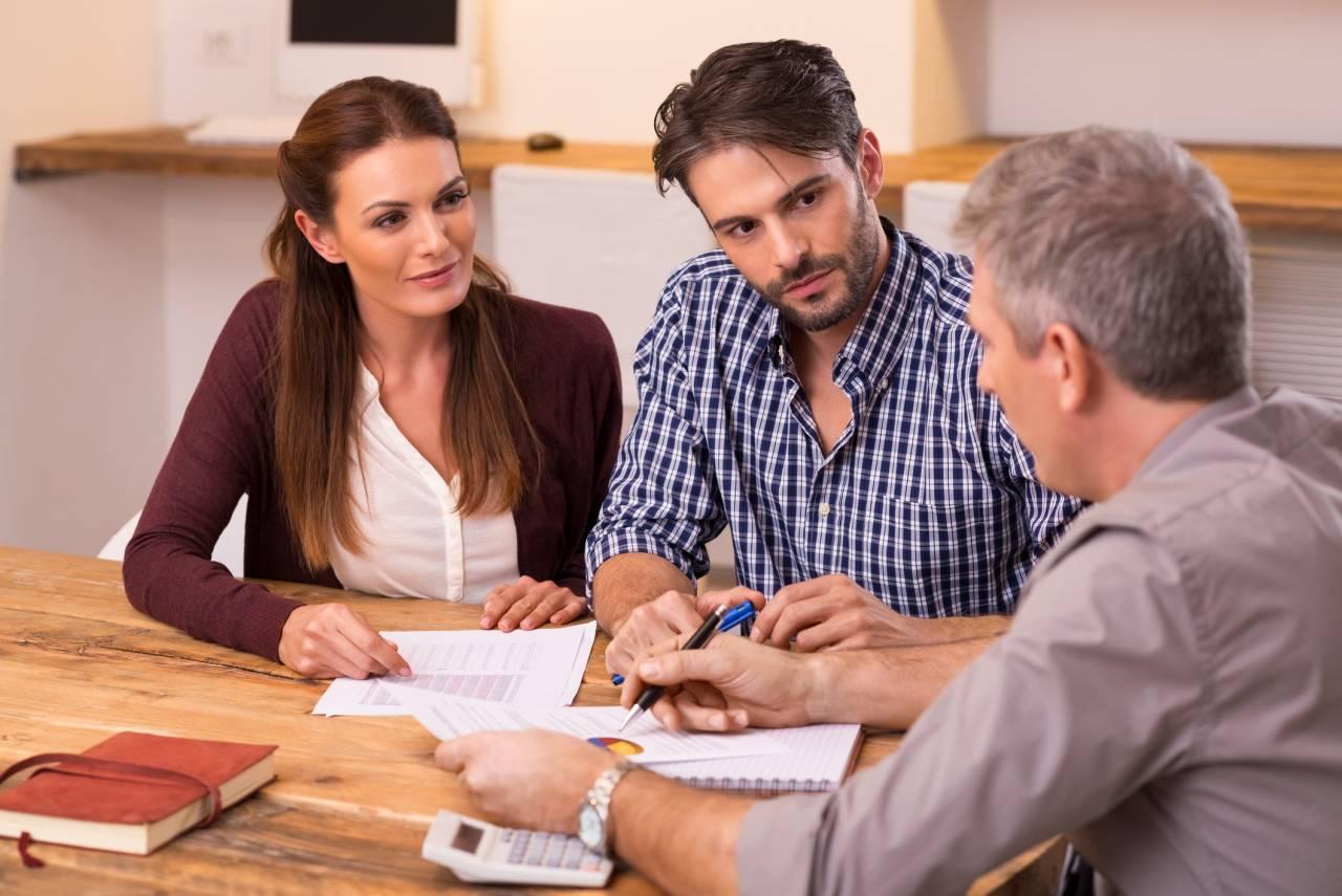 Couple meeting financial advisor