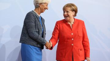 Christine Lagarde e Angela Merkel