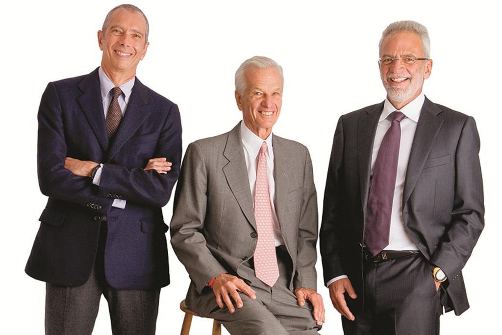 Carlos Alberto Sicupira, Jorge Paulo Lemann e Marcel Herrmann Telles