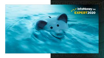 PLanejamento financeiro na crise: foto mostra cofre de porquinho afundando em enchente