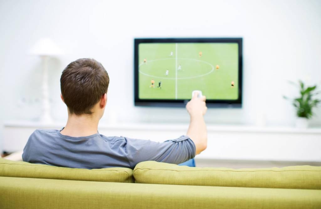 televisão futebol jogo tv