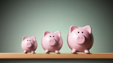 Porquinhos, cofrinhos, representando a poupança