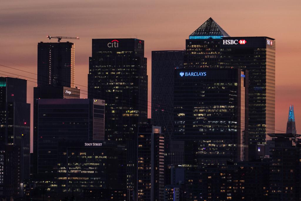 Vista do Canary Wharf, distrito financeiro de Londres