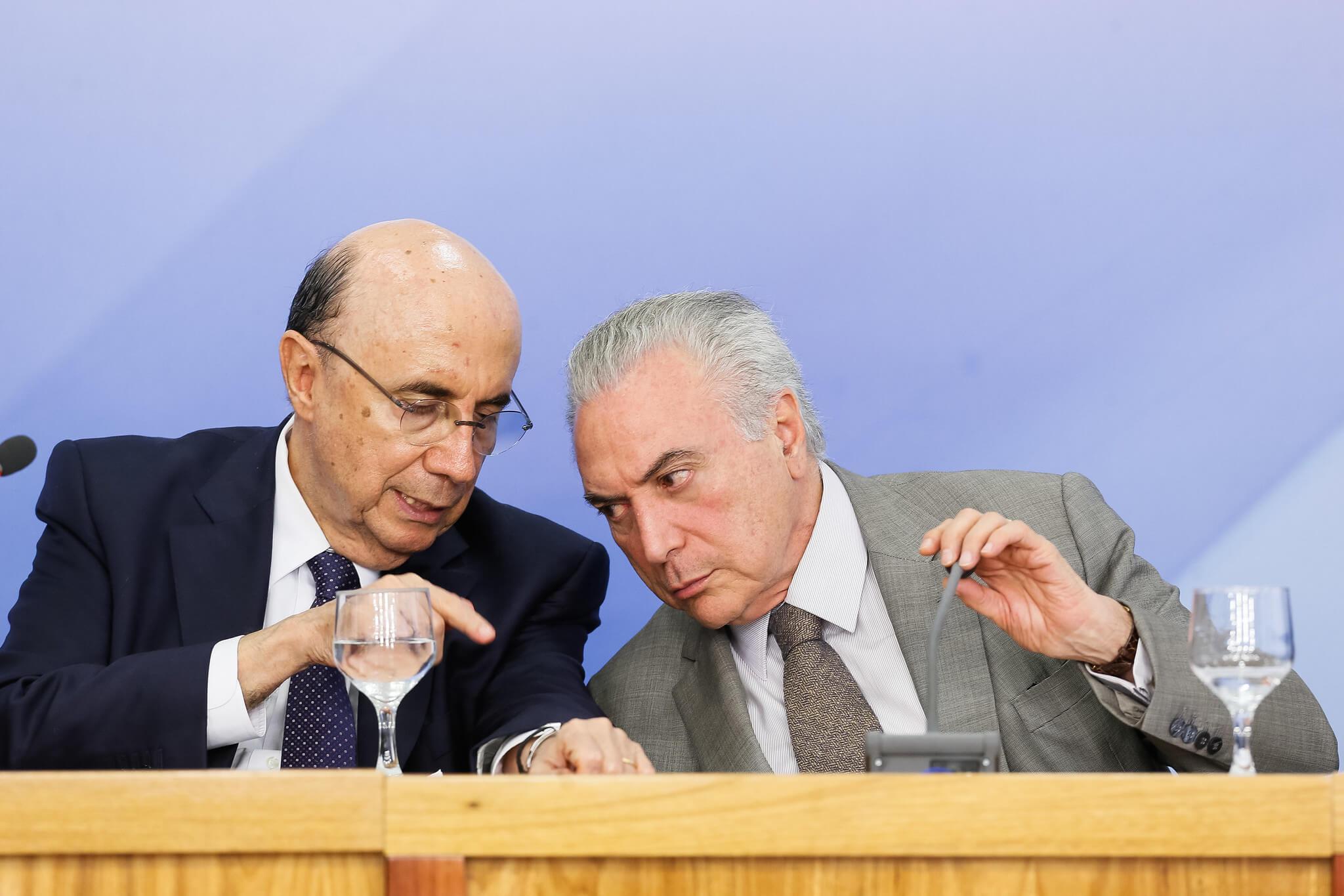 Michel Temer e Henrique Meirelles