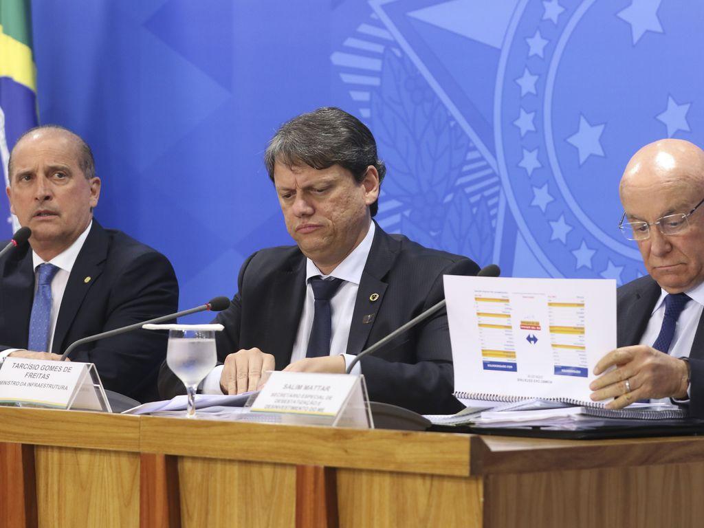 Onyx Lorenzoni, Tarcisio Gomes de Freitas e Salim Mattar