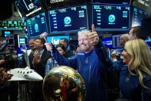 Richard Branson no IPO da Virgin Galactic