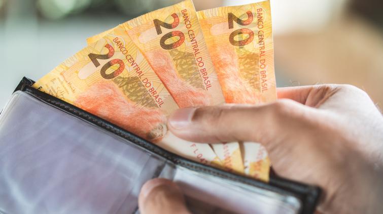 Dinheiro notas de 20