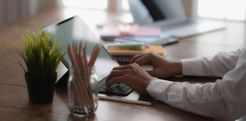 Escritório em casa, imagem representando trabalho em home office