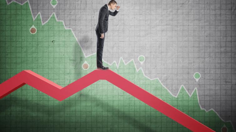 Preços queda mercado bolha