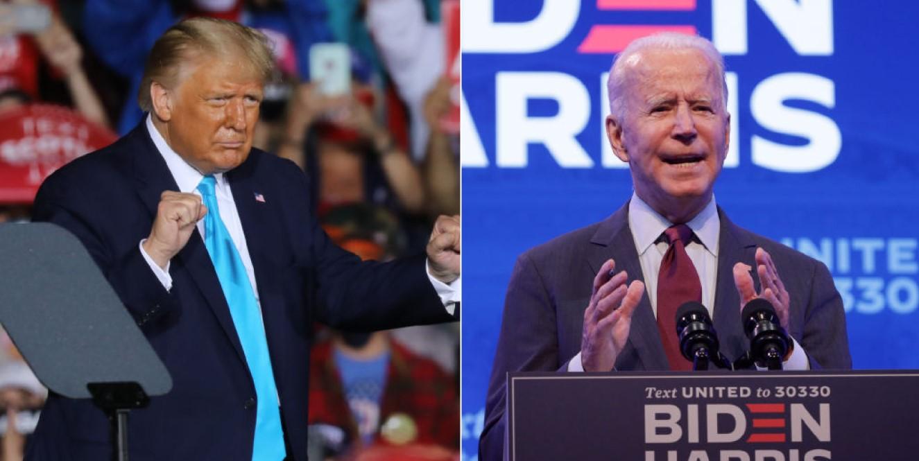 """Biden chama invasão do Congresso de """"ataque à democracia""""; Trump pede fim dos protestos, mas diz que eleição foi roubada thumbnail"""