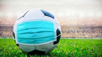 futebol bola máscara coronavirus