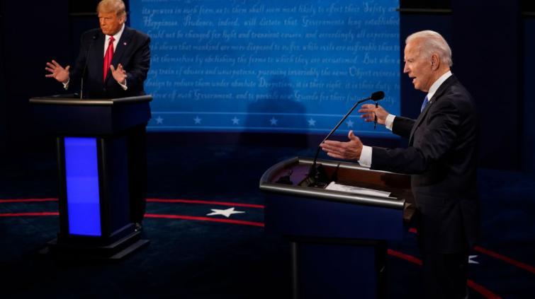 Donald Trump e Joe Biden debate