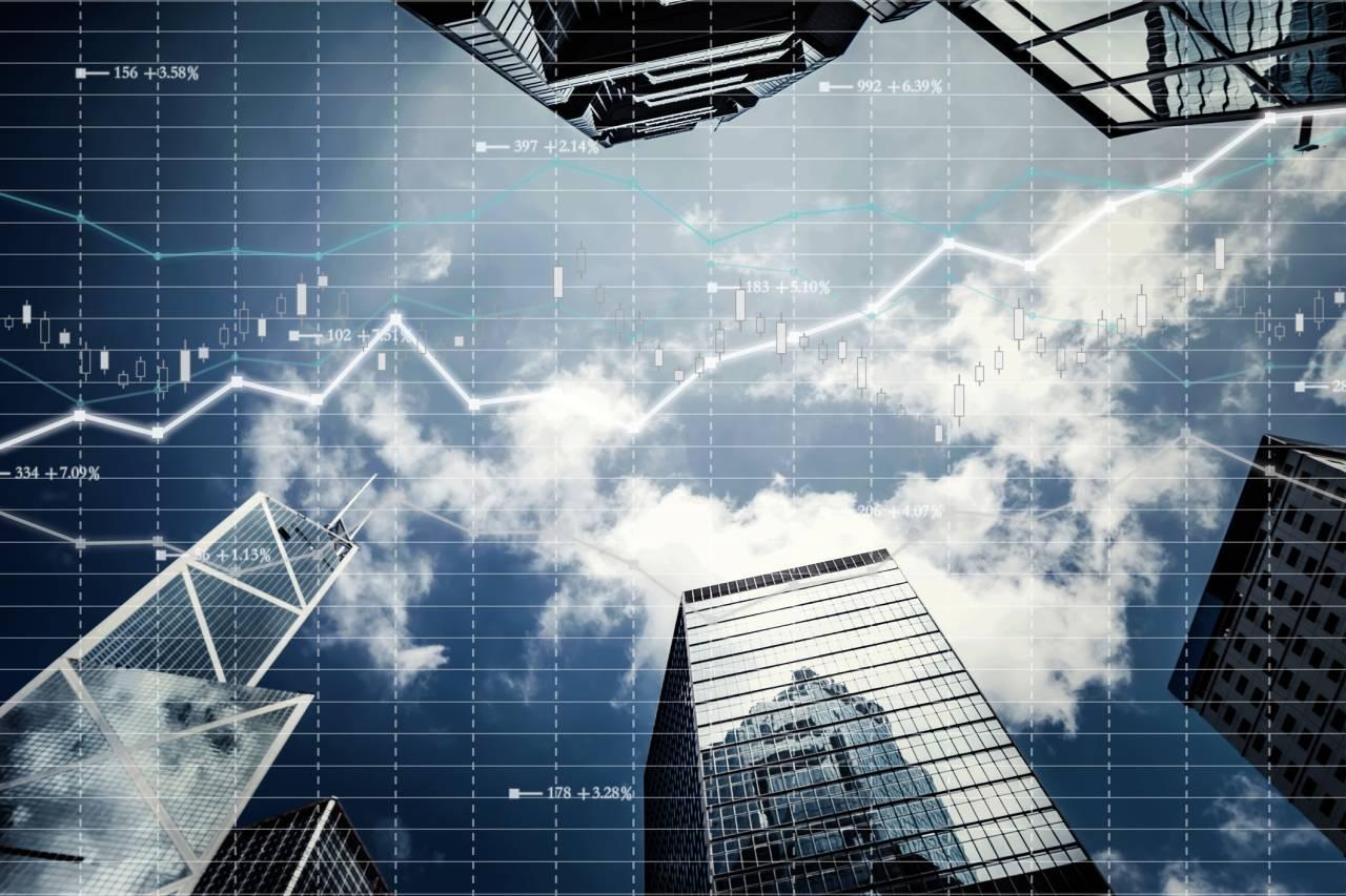Background stock market and finance economic