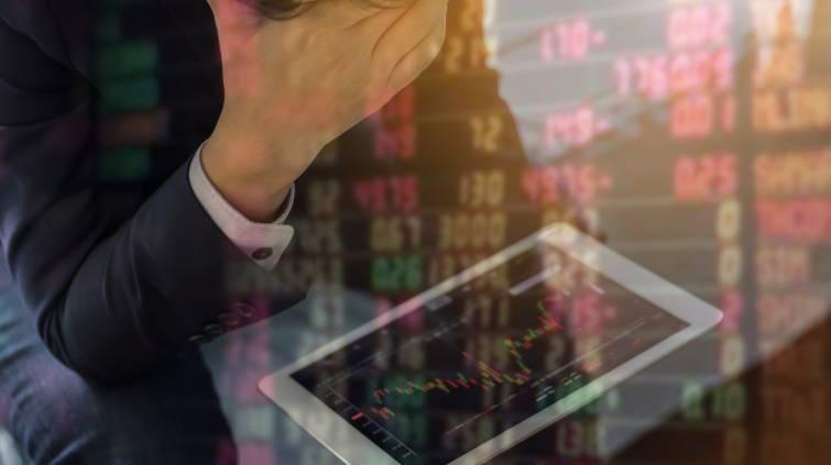 Investidor frustrado perdas