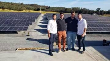 Danilo Santos e Vitor Vellasco, sócios da Vellas Energia, geradores da Lemon; e Rafael Vignoli e Luciano Pereira, CEO e CTO da Lemon