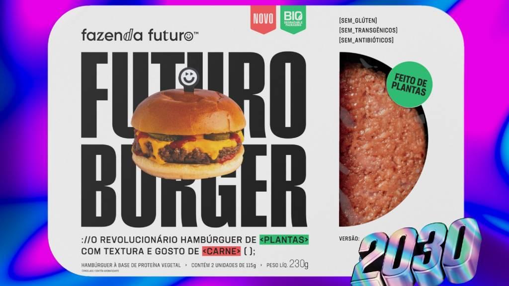 Embalagem do Futuro Burger 2030, da Fazenda Futuro (Foto: Divulgação)