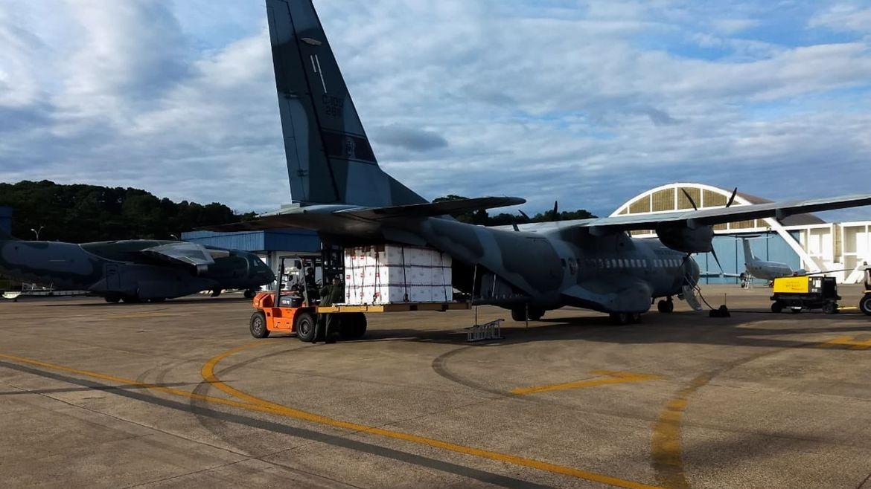 Aviões da FAB iniciam distribuição de vacinas aos estados (FAB/Divulgação)