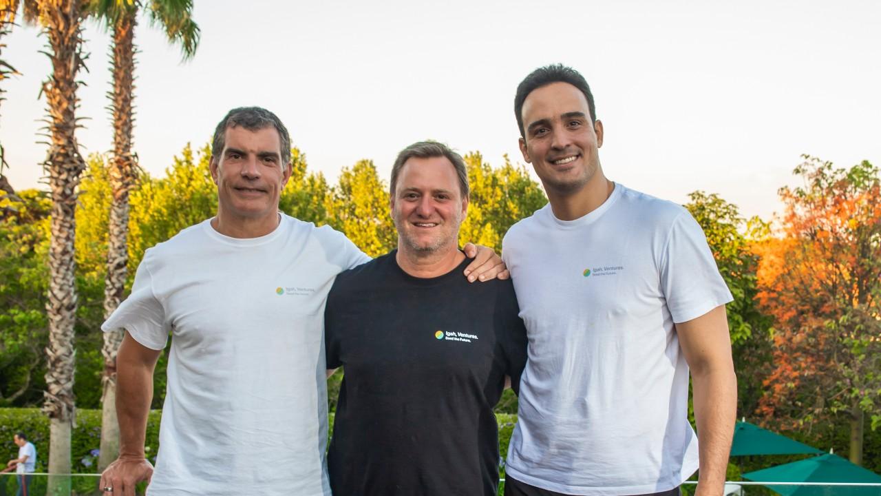 Marcio Trigueiro, Pedro Sirotsky Melzer e Luis Felipe Magon, da Igah Ventures (Divulgação)