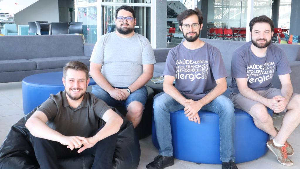 Claiton de Souza, Marco Cevey, Vitor Kuster e Rafael Peletti, da ilergic (Divulgação)